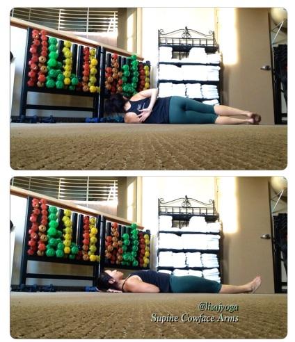 Yin Yoga Cowface Arms @lisajangyoga